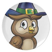 Cartoon Owl Character Melamine Plate