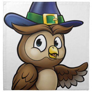 Halloween Themed Cartoon Owl Character Napkin