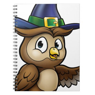 Halloween Themed Cartoon Owl Character Notebook