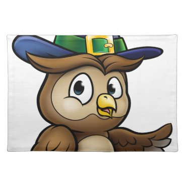 Halloween Themed Cartoon Owl Character Placemat