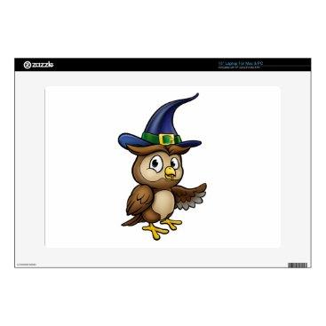 "Halloween Themed Cartoon Owl Character Skin For 15"" Laptop"