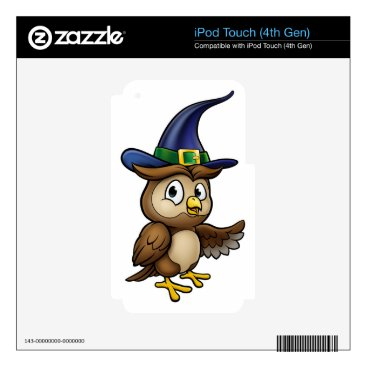 Halloween Themed Cartoon Owl Character Skins For iPod Touch 4G