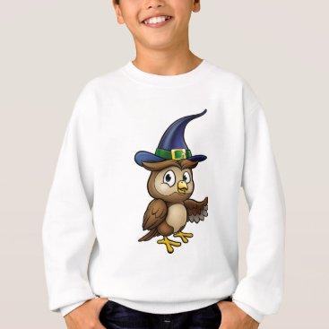 Halloween Themed Cartoon Owl Character Sweatshirt