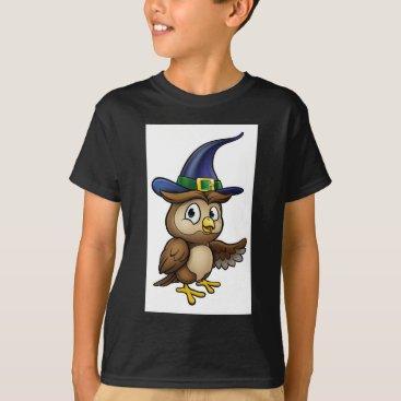 Halloween Themed Cartoon Owl Character T-Shirt
