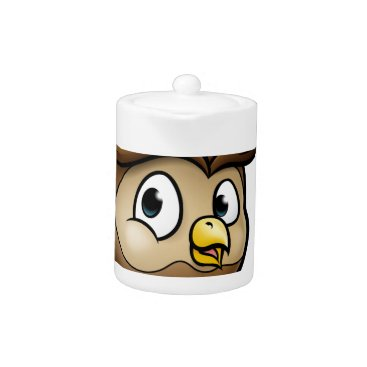 Halloween Themed Cartoon Owl Character Teapot