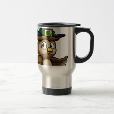 Halloween Themed Cartoon Owl Character Travel Mug