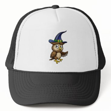 Halloween Themed Cartoon Owl Character Trucker Hat