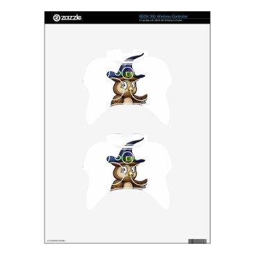 Halloween Themed Cartoon Owl Character Xbox 360 Controller Decal