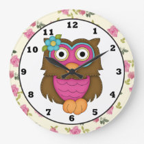 Cartoon Owl Clock