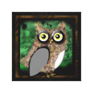 Cartoon Owl Design Canvas Prints
