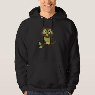 Cartoon Owl (green) Hoody