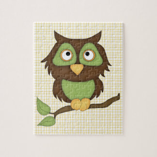 Cartoon Owl (green) Puzzle