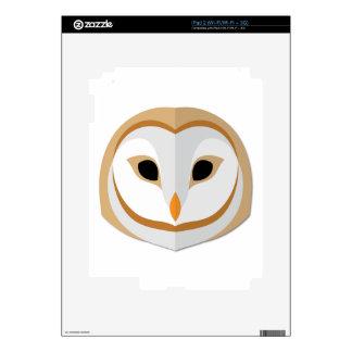 Cartoon Owl Head iPad 2 Decals