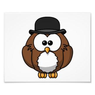 Cartoon Owl in Bowler Hat Photograph