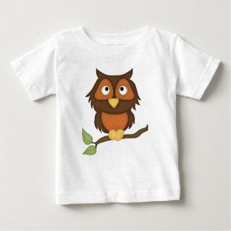 Cartoon Owl (mahogany) Baby T-Shirt