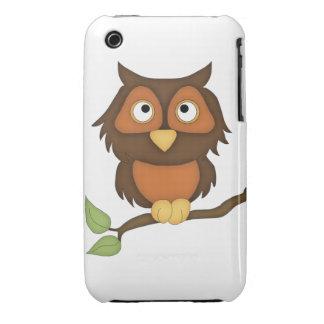 Cartoon Owl (mahogany) Case-Mate iPhone 3 Case