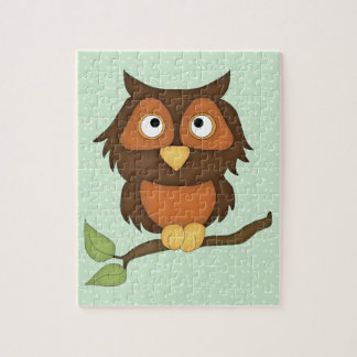 Cartoon Owl (mahogany) Jigsaw Puzzle