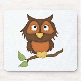 Cartoon Owl (mahogany) Mouse Pad