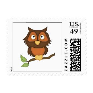 Cartoon Owl (mahogany) Stamp