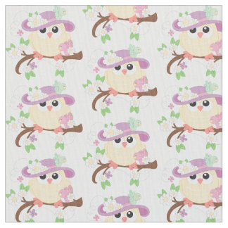 Woodland Nursery Owl Fabric - Owls In The Forest By Heleen van den ...