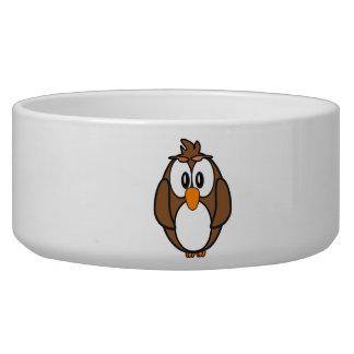 Cartoon Owl Pet Food Bowls