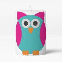 Cartoon Owl Pillar Candle