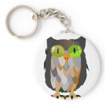 Cartoon Owl Sitting Keychain