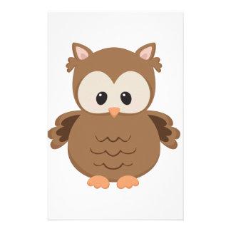 Cartoon Owl Stationery
