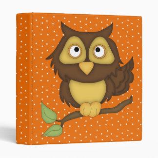 Cartoon Owl (tan) 3 Ring Binder
