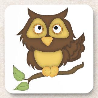 Cartoon Owl (tan) Coaster