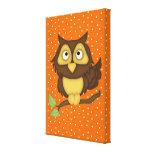 Cartoon Owl (tan) Gallery Wrap Canvas