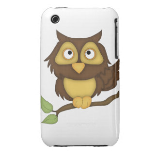 Cartoon Owl (tan) iPhone 3 Covers