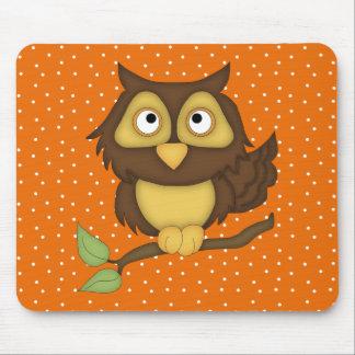 Cartoon Owl (tan) Mouse Pad