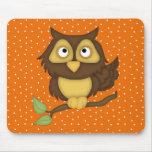 Cartoon Owl (tan) Mousepads