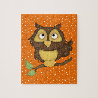 Cartoon Owl (tan) Puzzle