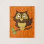 Cartoon Owl (tan) Puzzles
