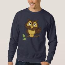 Cartoon Owl (tan) Sweatshirt