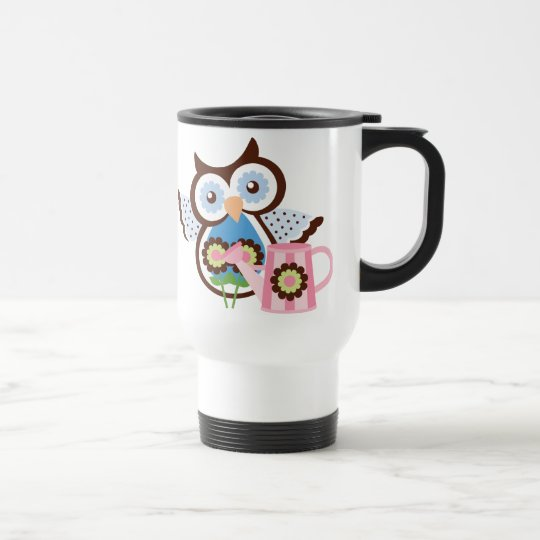 cartoon Owl travel mug