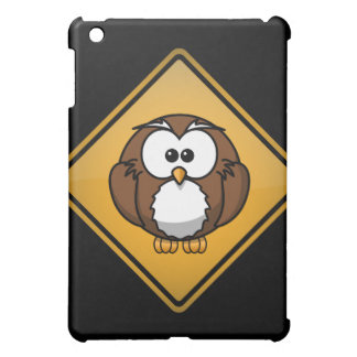 Cartoon Owl Warning Sign iPad Mini Covers