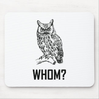 Cartoon Owl Whom Funny Mouse Pad