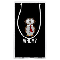 Cartoon Owl Whom Funny Small Gift Bag