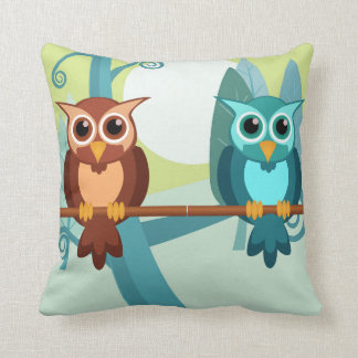 Cartoon Owls Pillow