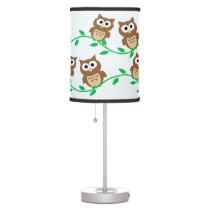 Cartoon Owls Table Lamp