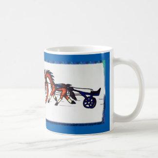 Cartoon pacer standardbred horse mug