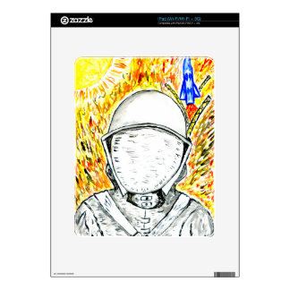 Cartoon Painted Astronaut2 iPad Skins