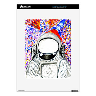 Cartoon Painted Astronaut Skin For The iPad