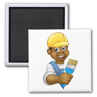 Cartoon Painter and Decorator Man Magnet