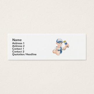 Cartoon painter decorator mini business card