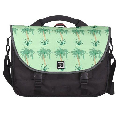 Cartoon Palm Tree Laptop Commuter Bag