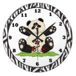 Cartoon Panda Bear clock